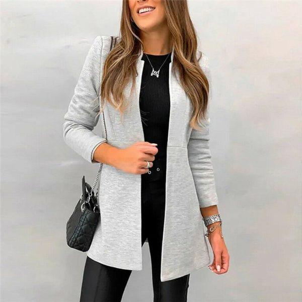 Petite veste élégante Minute Mode Gris clair L