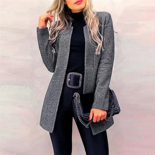 Petite veste élégante Minute Mode Gris foncé L