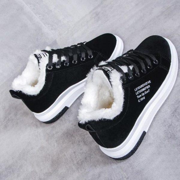 Superbes Chaussures Fourrées Minute Mode Noir 35