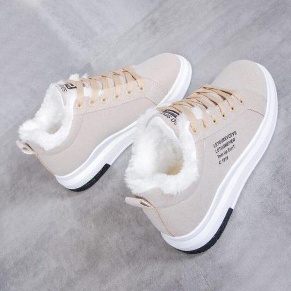 Superbes Chaussures Fourrées Minute Mode Beige 35