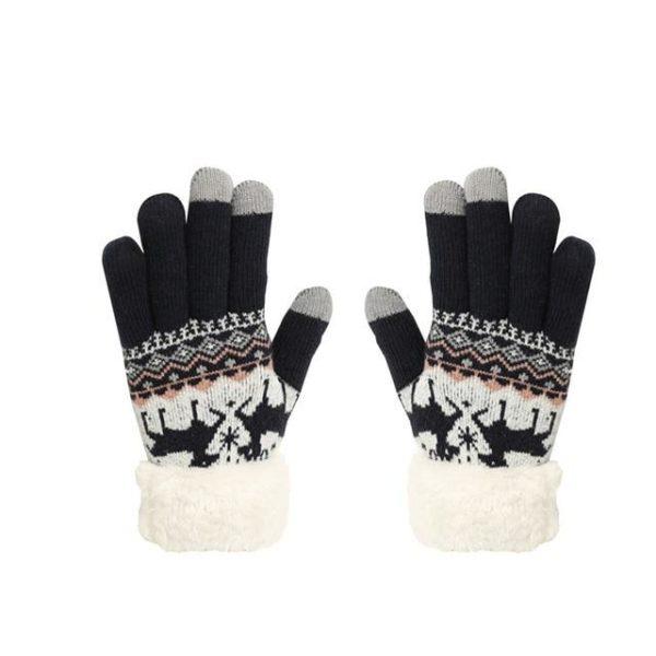 Gants Tactiles En Molleton Thermique Raton Malin Noir