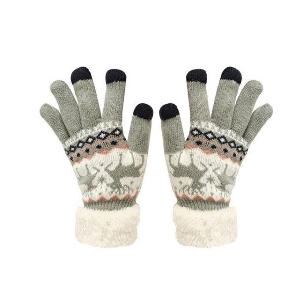 Gants Tactiles En Molleton Thermique Raton Malin Gris