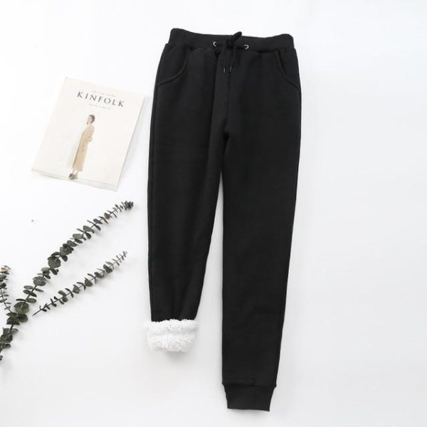 Pantalon Cosy Féminin Minute Mode Noir L