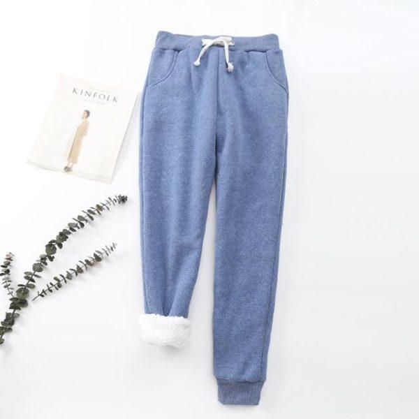 Pantalon Cosy Féminin Minute Mode Bleu L