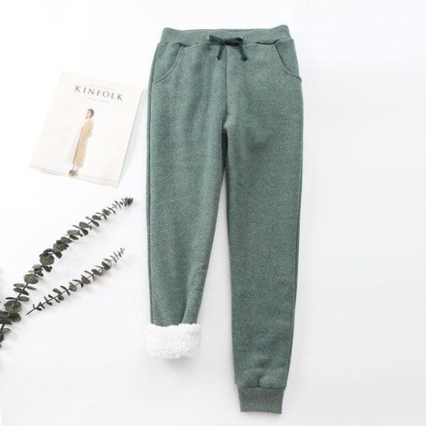 Pantalon Cosy Féminin Minute Mode Vert L