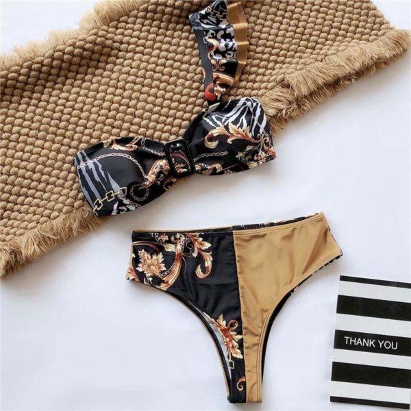 product image 1207874082 Bikini Brésilien Taille Haute