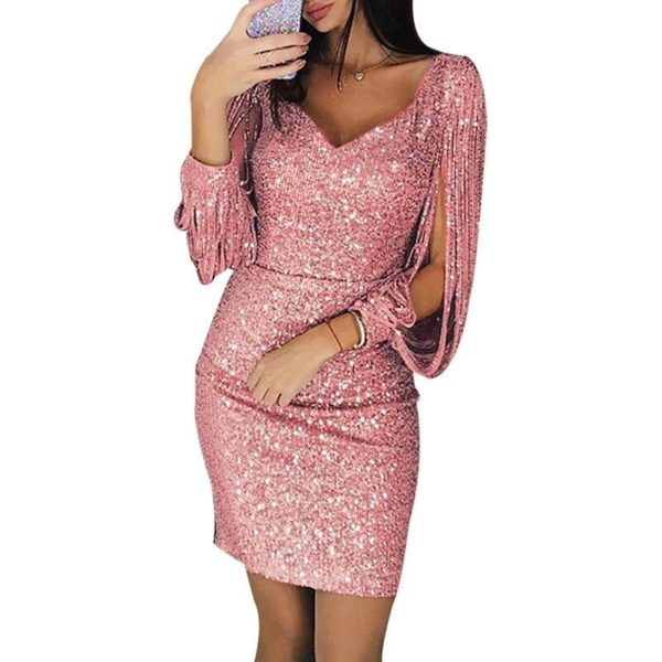 Sublime Robe Sequins Minute Mode Rose XL