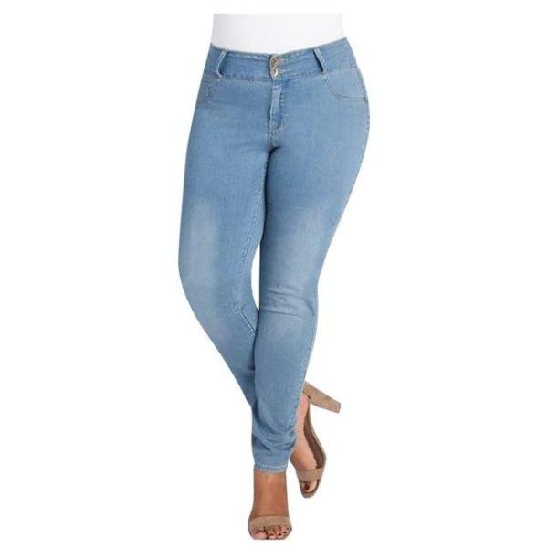 Pantalon Jean Slim Raton Malin Bleu ciel M China