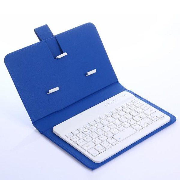 Clavier Sans Fil Bluetooth Avec Housse De Protection Raton Malin Bleu