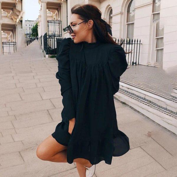 Élégante Robe Vintage Minute Mode Noir S