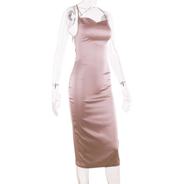 product image 1300308615 Robe Midi Effet Satin
