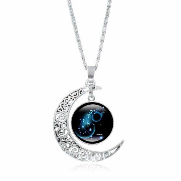 Collier croissant de lune Raton Malin Verseau