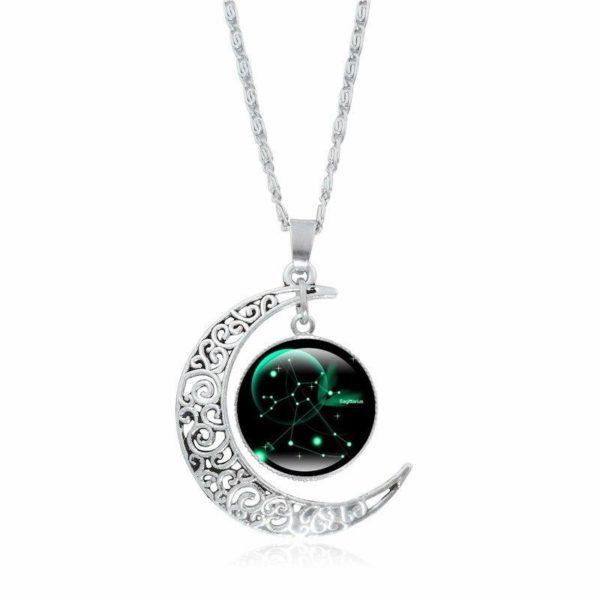 Collier croissant de lune Raton Malin Sagittaire