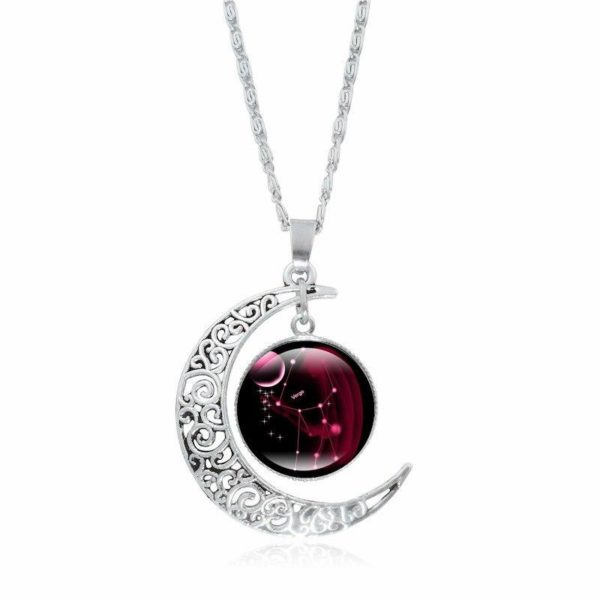 Collier croissant de lune Raton Malin Vierge