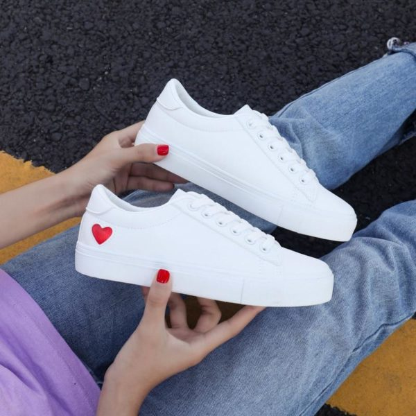 Baskets Casual HEART Minute Mode Coeur rouge 35