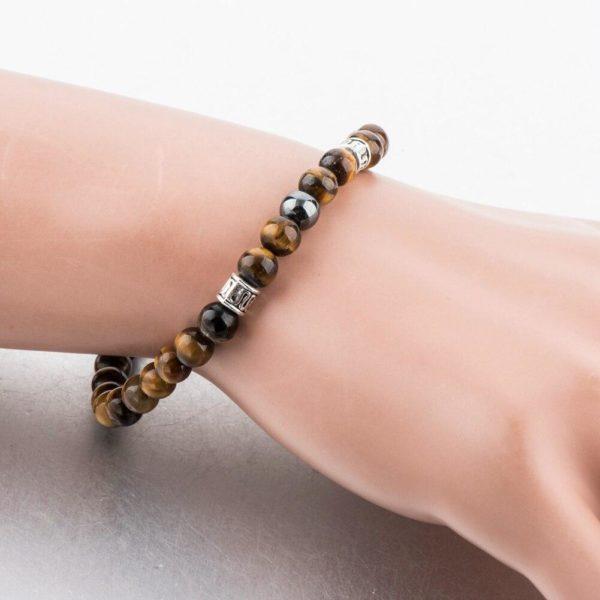 product image 1312422714 Bracelet De Guérison En Œil De Tigre Et Hématite