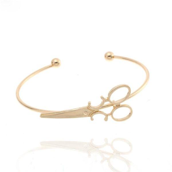 Bracelet Ciseaux Stylé Minute Mode Doré