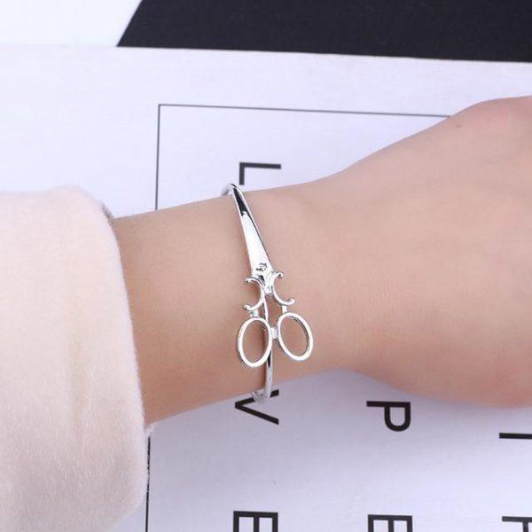 Bracelet Ciseaux Stylé Minute Mode Argenté