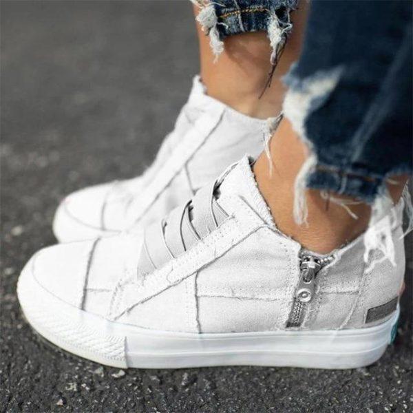 Baskets Denim à Fermeture Site Vêtements Blanc 40 CN