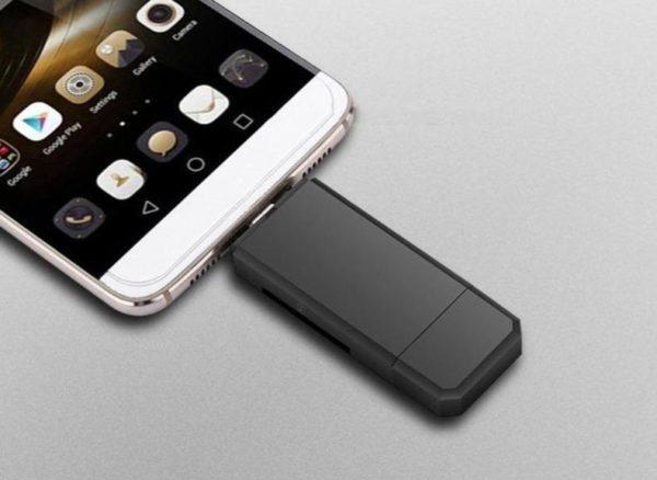 product image 1357503986 Lecteur De Carte 3-En-1 Micro Usb - Usb - Type C Pour Android