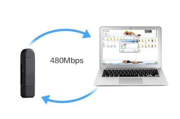 product image 1357504000 Lecteur De Carte 3-En-1 Micro Usb - Usb - Type C Pour Android