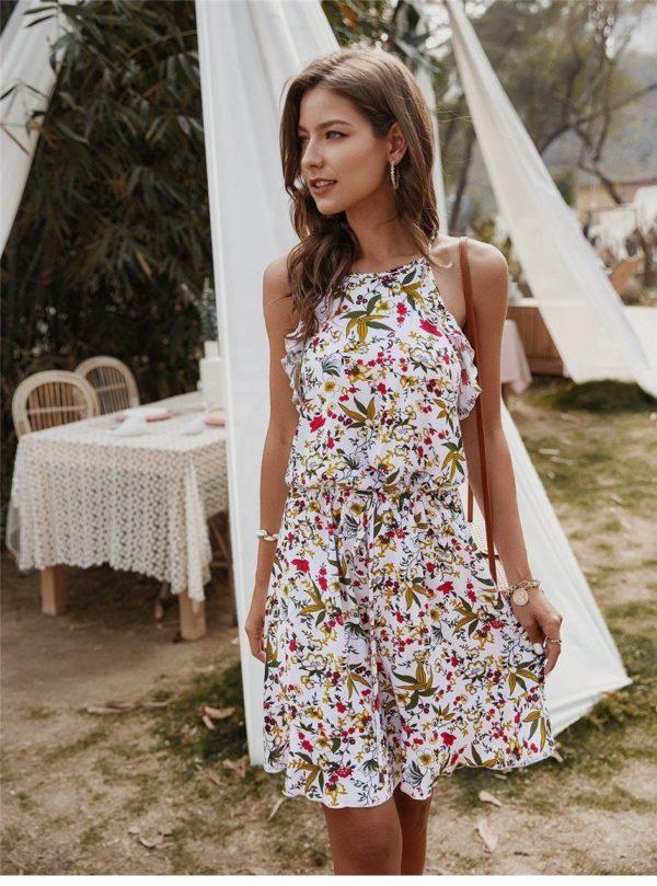 product image 1369121816 Mini Robe Florale Sans Manches