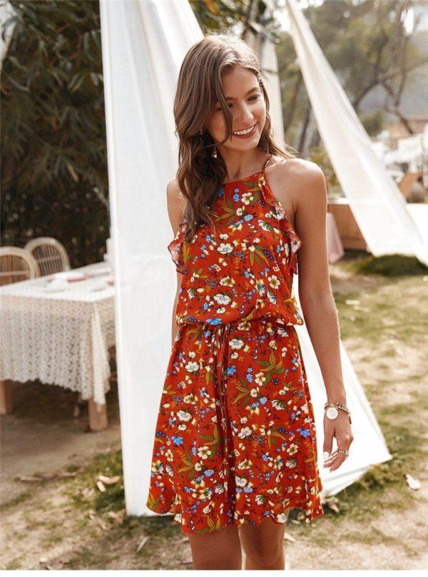 product image 1369121831 Mini Robe Florale Sans Manches