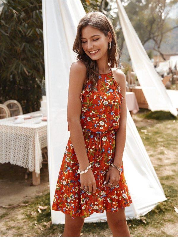 product image 1369121832 Mini Robe Florale Sans Manches