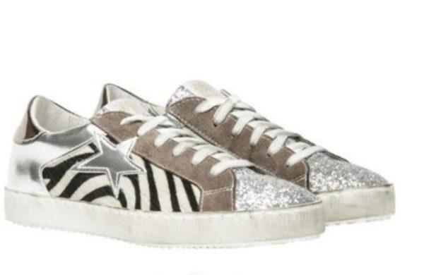 Chaussures vintage à paillettes Minute Mode Argenté 43