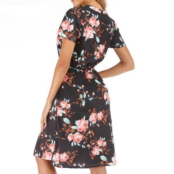 product image 1381834015 Robe Florale À Manches Courtes
