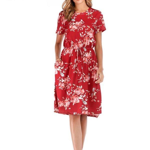 product image 1381834016 Robe Florale À Manches Courtes