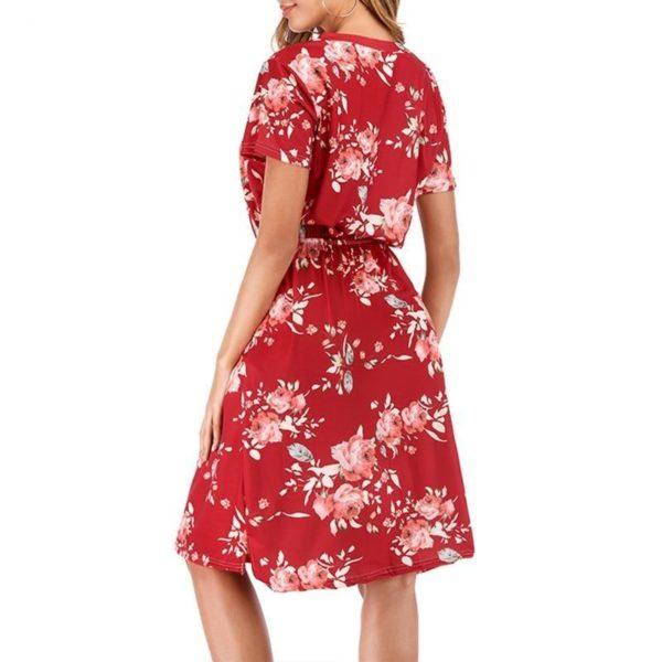 product image 1381834017 Robe Florale À Manches Courtes