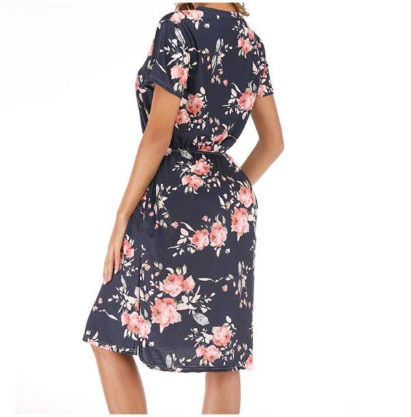 product image 1381834029 Robe Florale À Manches Courtes
