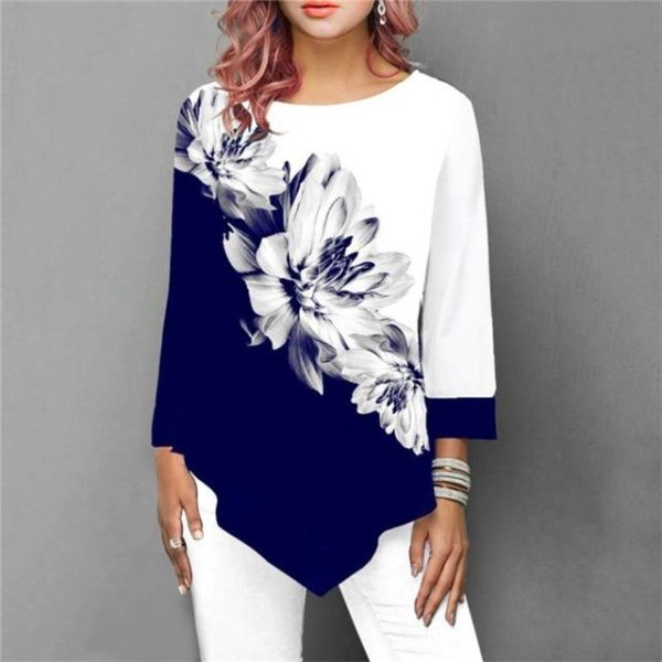 Blouse Florale Sublime Minute Mode Bleu S