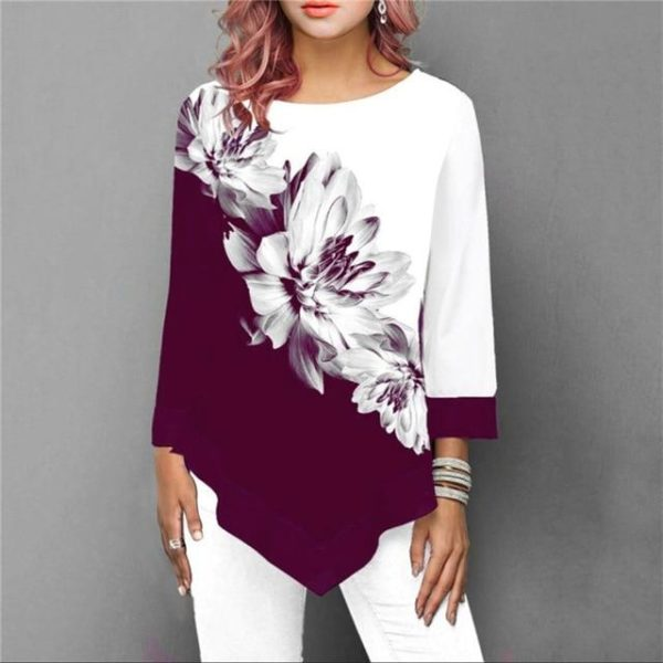 Blouse Florale Sublime Minute Mode Rouge S