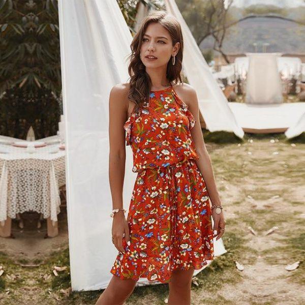 product image 1388140382 Mini Robe Florale Sans Manches