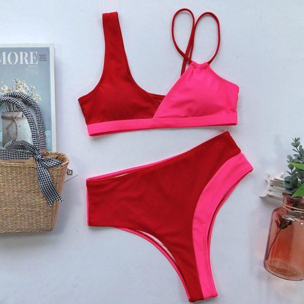 product image 1393593942 Bikini Brésilien Taille Haute