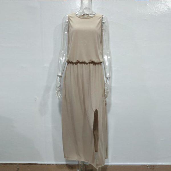 product image 1400680543 Robe Longue Fendue