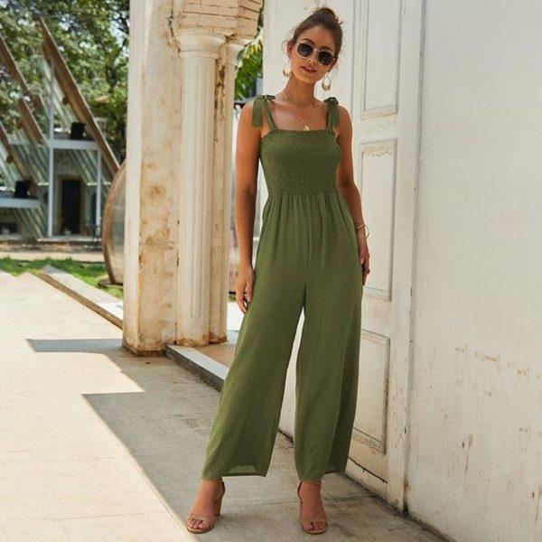 Longue Robe à Manches Nouées Minute Mode Vert S