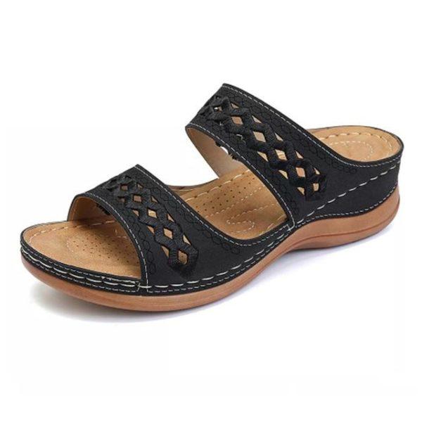 Sandales Casual pour Femmes Minute Mode Noir 44