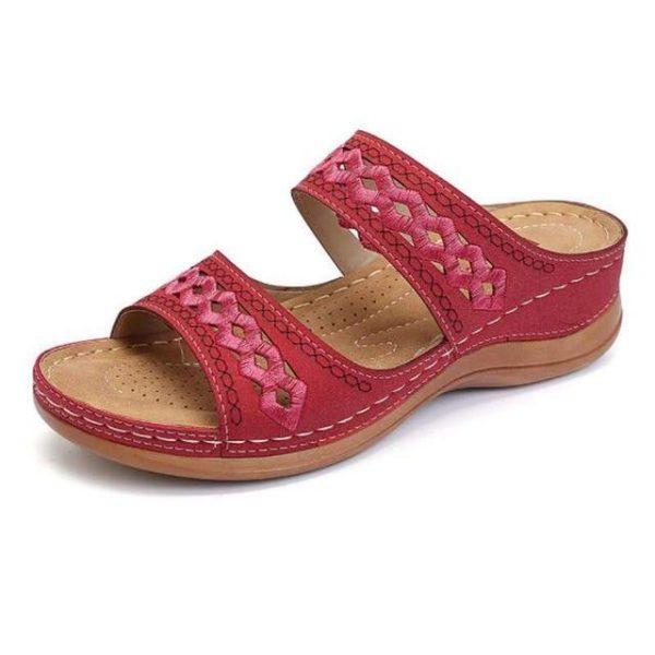 Sandales Casual pour Femmes Minute Mode Rouge 44
