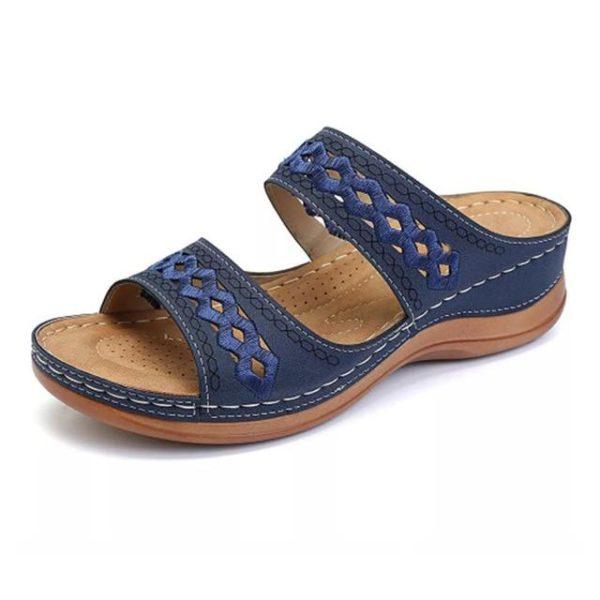 Sandales Casual pour Femmes Minute Mode Bleu 35