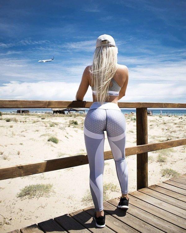Leggings Imprimé Géométrique Site Vêtements Blanc S