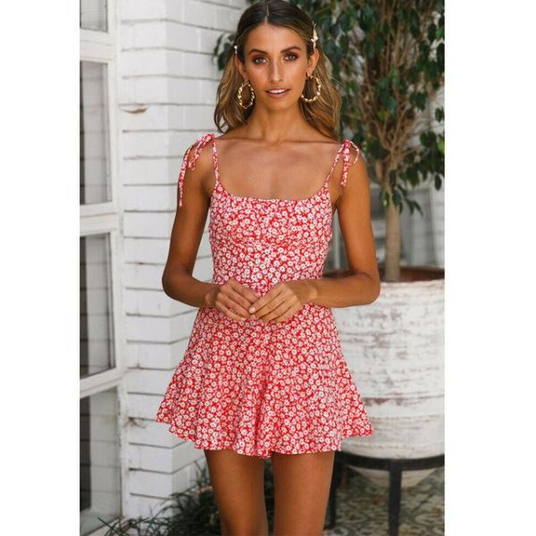 Combishort Floral Boho Minute Mode Rouge S