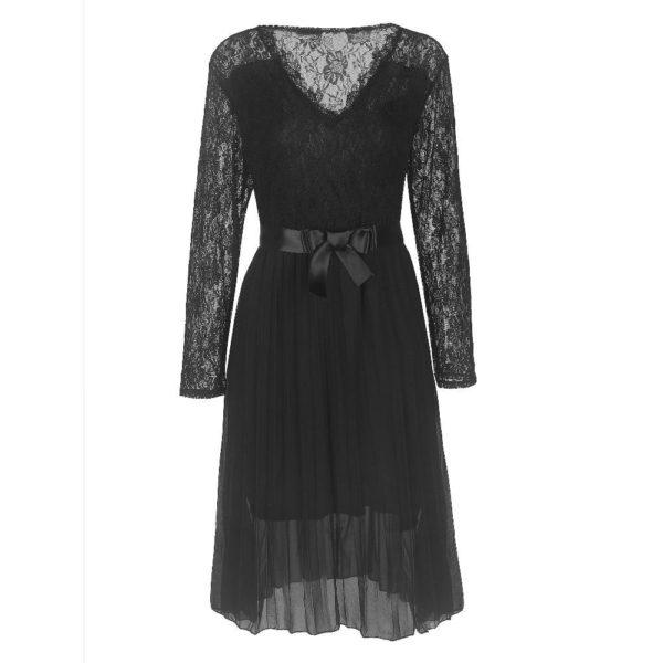 product image 1434476579 Robe Noire Plissée 2020