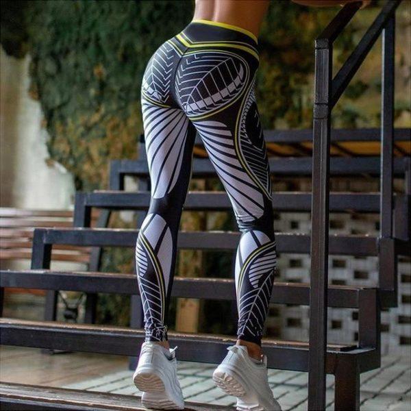 Leggings Yoga Imprimé Floral Site Vêtements Gris L