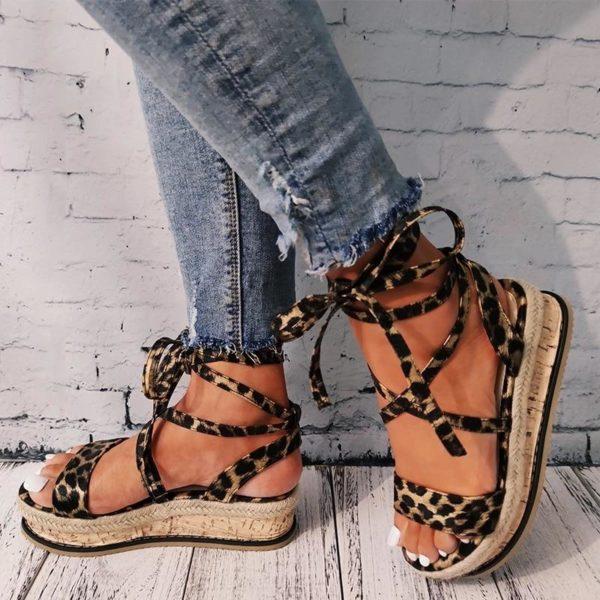 Sandales Confortables à Plateformes Minute Mode