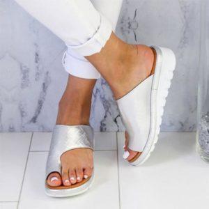 Sandales Orthopédiques Minute Mode Argenté 34