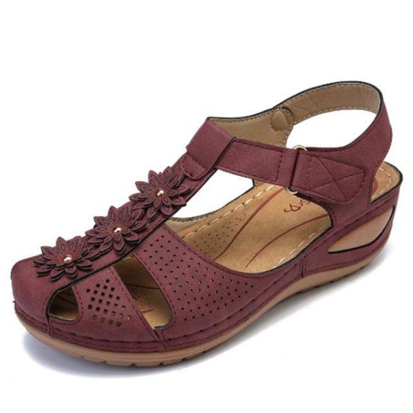 Sandales Orthopédiques à Fleurs Minute Mode Violet 36