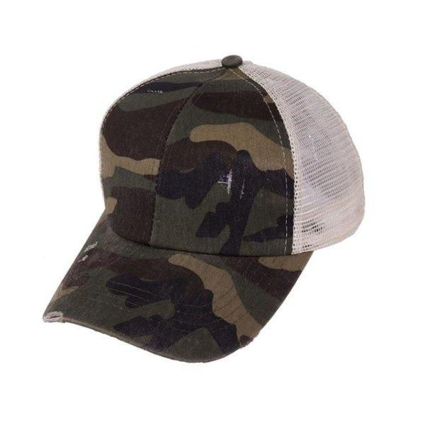 Casquette Spéciale Queue de Cheval Minute Mode Camouflage